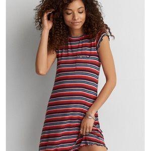 $5 W/ BUNDLE American Eagle Striped T-Shirt Dress
